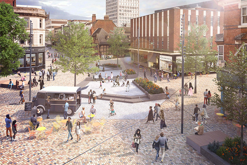 Artist's impression of Victoria Square - part of phase one works