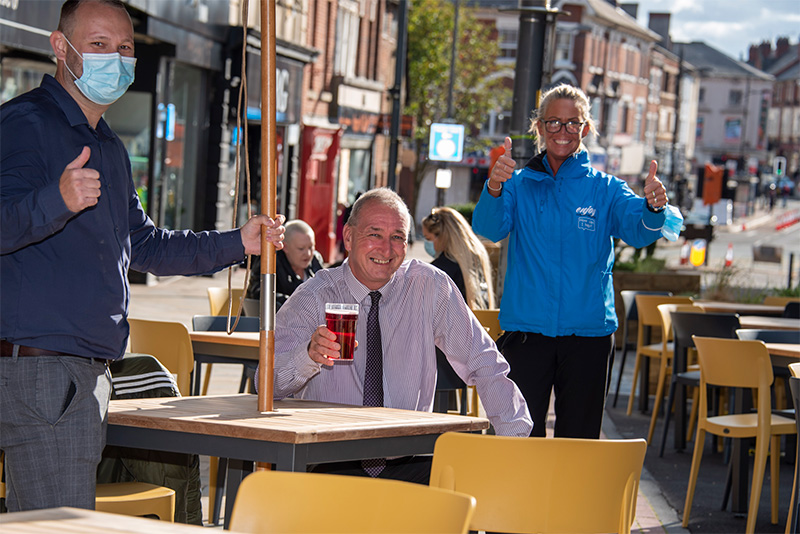 Work completed to boost businesses and help make city centre safe and welcoming